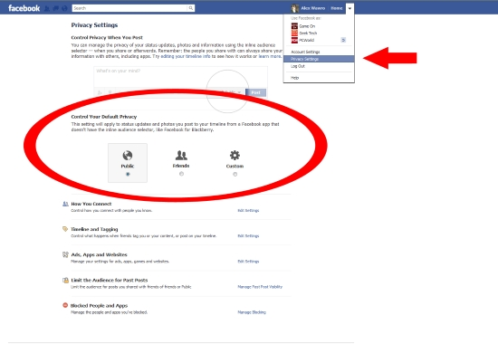 Facbook Privacy Settings